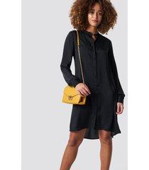 na-kd oversized shirt dress - black