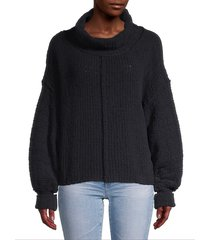 free people women's be yours bishop-sleeve sweater - black - size xs