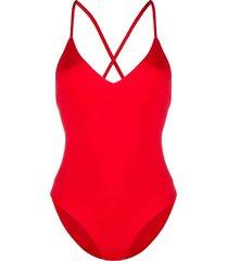 mara hoffman textured swimsuit