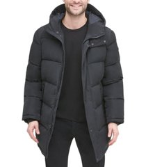 dkny men's quilted water resistant hooded city full length parka jacket, created for macy's