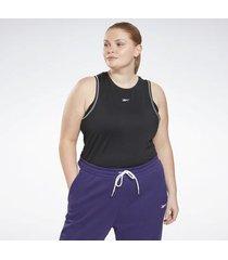 top reebok sport workout ready mesh tanktop (plus size)