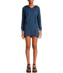 madden girl juniors' raw-edge hoodie dress