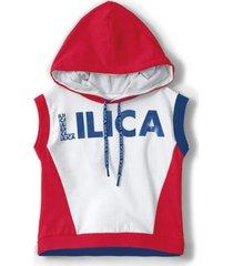blusa regata lilica ripilica infantil vermelho