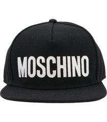 moschino label cap