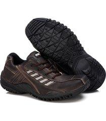sapatenis couro tchwm shoes masculino design moderno dia dia marrom - kanui