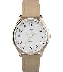 reloj casual beige timex