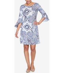 ruby rd. plus size drs tile italia puff dress