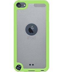 amzer slimgrip hybrid case - cloudy/ green for ipod touch 5th gen / 6th gen