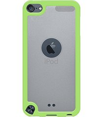 amzer slimgrip hybrid case - cloudy/ green for ipod touch 5th gen / 6th gen