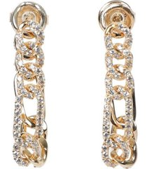 crystal twisted chain earrings