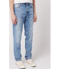 nudie jeans men's steady eddie lin jeans - sunday blues - w36/l32