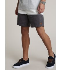 bermuda de sarja masculina listrada com bolso azul
