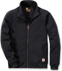 carhartt vest men midweight mock neck zip sweatshirt black-xxl