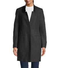 allsaints women's lyla wool-blend coat - charcoal - size 2