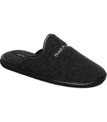 felt slipper slippers tofflor svart hush puppies