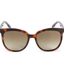 56mm squared cat eye sunglasses
