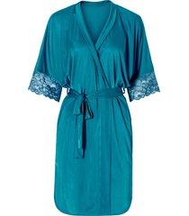 kimono in satin (petrolio) - bodyflirt