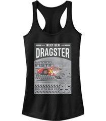 disney pixar juniors' cars dragster gen ideal racerback tank top