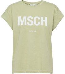 alva msch std seasonal tee t-shirts & tops short-sleeved grön moss copenhagen