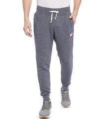 pantalón de buzo nike m nsw heritage jggr azul - calce regular