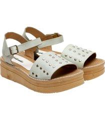 sandalia blanca valentia calzados brisa