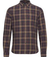 clive checked shirt skjorta casual brun lexington clothing