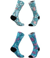 men's and women's winter mittens and ice skates socks, set of 2