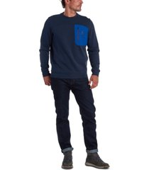 barbour men's skiff regular-fit colorblocked pocket sweatshirt