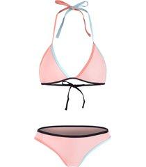 color contrast thong bikini set
