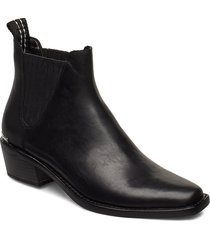 michelle shoes boots ankle boots ankle boots with heel svart dkny