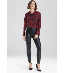 natori faux leather leggings, women's, size l