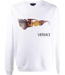 versace biggie sunglasses print sweatshirt - white