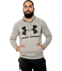 hoodie gris-negro under armour