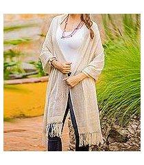 cotton shawl, 'natural combination in khaki' (guatemala)