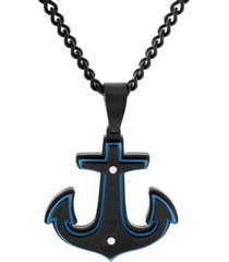 macy's men's anchor pendant necklace