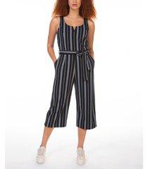 black tape striped culotte jumpsuit, in regular & petite