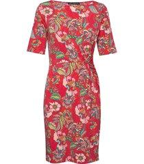dress short jersey jurk knielengte rood betty barclay
