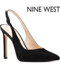 zapato de tacón de mujer tina nine west - negro