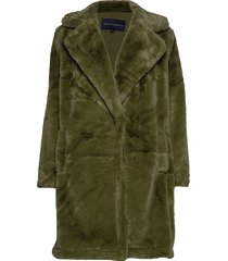 buona faux fur long coat outerwear faux fur grön french connection