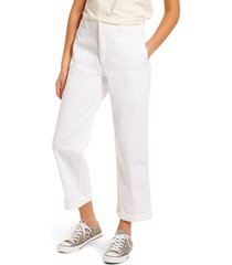 dickies crop work pants, size 9 in white at nordstrom