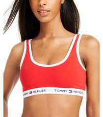 tommy hilfiger women's cotton scoop bralette r70t230