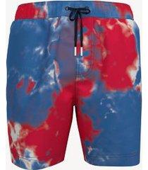 """tommy hilfiger men's tie-dye 7"""" swim trunk tie dye blue - xl"""