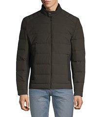 full-zip down puffer jacket
