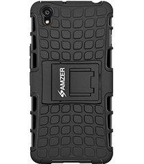 amzer hybrid warrior case - black/ black for oneplus x