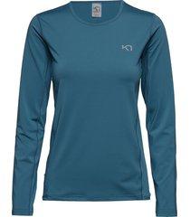 nora ls t-shirts & tops short-sleeved blå kari traa