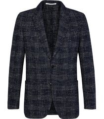 jacket check navy