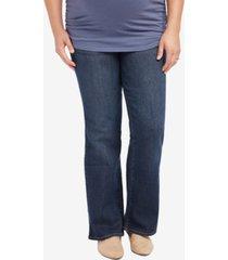 motherhood maternity plus size bootcut dark-wash jeans
