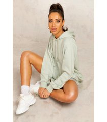 mix and match edition longline hoodie, sage