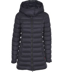 woolrich black down jacket with hood