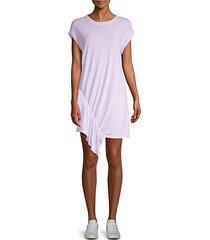 pacific avenue linen & cotton ruffle dress